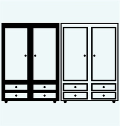 Closed cupboard vector