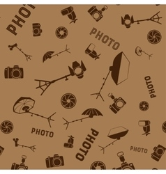 Photo studio tools seamless pattern vector