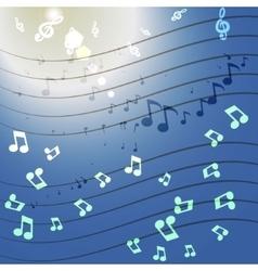 Music glow vector