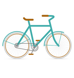 Bicycle hipster in flat style vector image