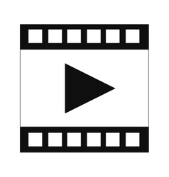 Film strip with play symbol icon vector