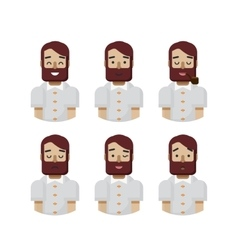 Set male avatars avatar with wide vector