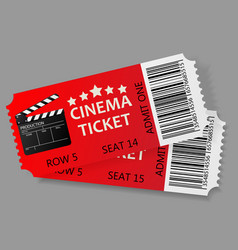 admit one tickets vector image