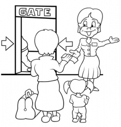airport gate vector image