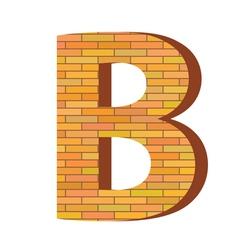 brick letter B vector image