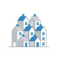 Building development mortgage and realty concept vector