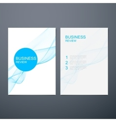 Business review brochure vector