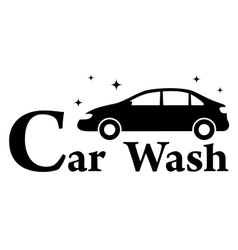 Car wash icon with clean automobile vector