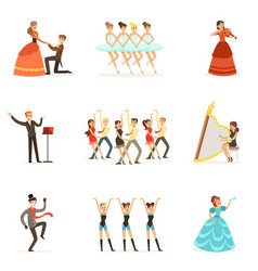 classic theater and artistic theatrical vector image vector image