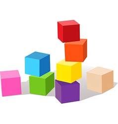color cubes vector image vector image
