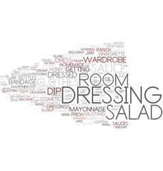 Dressing word cloud concept vector