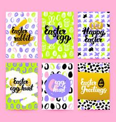 Easter trendy brochures vector