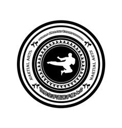 Emblem karate vector