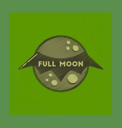 Flat shading style icon full moon bat vector