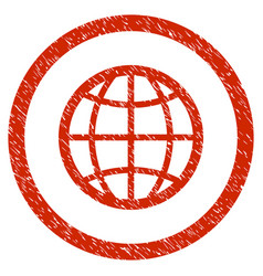globe rounded grainy icon vector image vector image