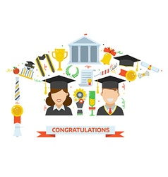 Graduation Award Elements Concept vector image