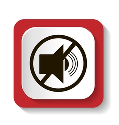 icon with symbol prohibits radiosound vector image vector image
