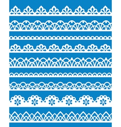 Lace patterns vector image vector image