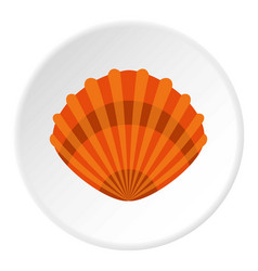 Pearl shell icon circle vector