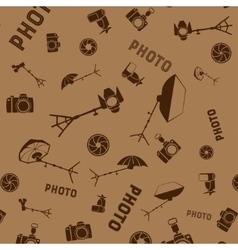 Photo studio tools seamless pattern vector image