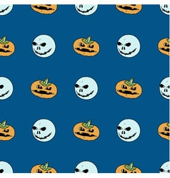 Seamless pattern from pumpkins and ghosts vector