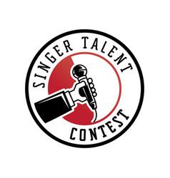 Singer talent contest logo vector