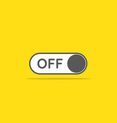 switch off toggle icon in flat style vector image vector image