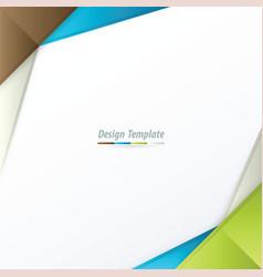 Template design brown white blue green vector