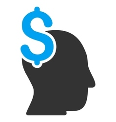 Commercial intellect flat icon vector