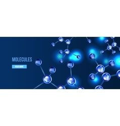 Banners with blue molecules design vector image