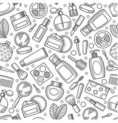 cosmetics seamless pattern vector image