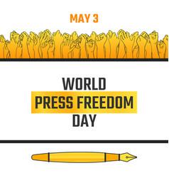 World press freedom day may 3 vector
