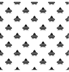 alien spaceship pattern vector image