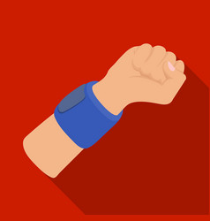 Arm with bandagebasketball single icon in flat vector