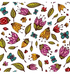 Flowers Ornament Seamless Pattern vector image