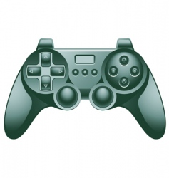 Video game controller pad vector