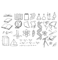 Science and education set vector