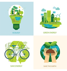 Save the world and clean energy concept vector