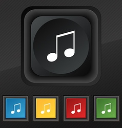 Musical note music ringtone icon symbol set of vector