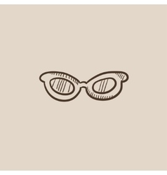Eyeglasses sketch icon vector