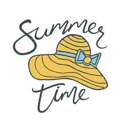 Summer time hat vector