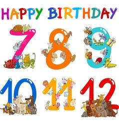 Birthday Anniversary cartoons set vector image