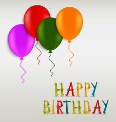 Birthday greeting colored card template vector