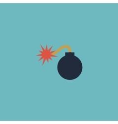bomb icon Flat Eps 10 vector image