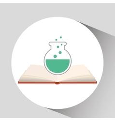 Book open test tube concept school graphic vector