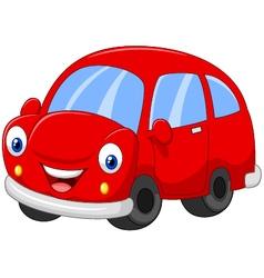 Cartoon red car vector