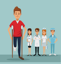 Color background group team specialist doctors vector