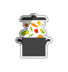 Delicious and fresh vegetables vector