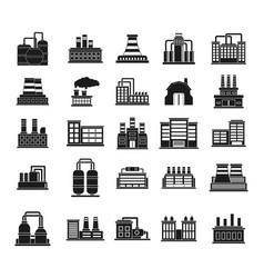 factory icon set simple style vector image