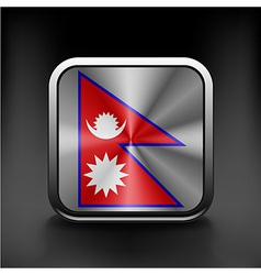Flag nepal state symbol icon vector